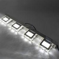 wholesale Double Lamp Crystal Surface Bathroom Bedroom Lamp White Light Silver Nodic Art Decor lighting Modern Waterproof mirror wall