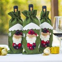 حمراء النبيذ زجاجة غطاء أكياس الديكور حزب المنزل سانتا كلوز عيد الميلاد التعبئة والتغليف عيد الميلاد عيد الميلاد الديكور eea8