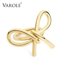 Volo elegante bowknot di linee anelli per le donne anelli infinito anelli unici design gioielli moda regali anel feminino