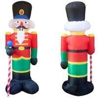 Decorazioni natalizie -2.4m Schiaccianoci Gonfiabile LED Light Up Decor Outdoor Decoration Decoration Doll