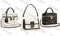 Frete Grátis Moda Dauphine Vanity Bag Mulheres Bolsas Mulher Designer Genuíno Bolsa de Ombro M57482M57463 Venha com Dustbag