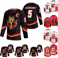Jugend-Calgary Flames 2021 Reverse Retro Mark Giordano Matthew Tkachuk Johnny Gaudreau Sean Monahan Elias Lindholm Rittich Bennett Jersey