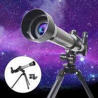 어린이 실험 천문 망원경 광각 강력한 줌 학생 망원경 삼각대 단안화 어린이 선물 장난감