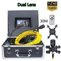 Çift Kamera 7 inç 30 M 50 M 1080 P HD Lens Drenaj Kanalizasyon Boru Hattı Endüstriyel Endoskop Boru Muayene Video Camera1