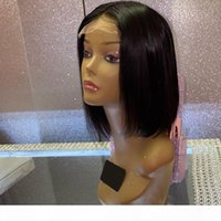 Menschliche Haarspitze Frontal Perücken Brazilianer gerade Bob 4x4 Bob kurze Spitze Perücken 150% Dichte Natürliche Farbe Gagaqueen Haare