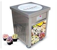 ETL CE Бесплатная отгрузка США Франшиза KoLice Одноместный раунд 55см Pan Roll Cread Machine Fry Create машина жареная машина