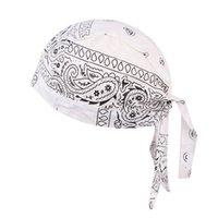 Mulheres Homens Algodão Crânio Tampas Paisley Bandanas Headwear Unisex Bicicleta Ciclismo Hat Amoeba Pirate Bike Hat Acessórios DDA2674
