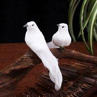 الريش الرغوة الطيور الاصطناعية 12 قطع البدلة البستنة المنزل الديكور الأبيض الحمائم مجلد محاكاة حمامة الحلي 1 55ky g2