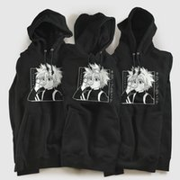 Coolmind 100% algodão homens mulheres kawaii x caçador hodies killua zoldyck hoodie moletom anime manga hoodies