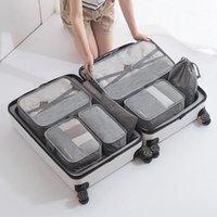 Duffel Bags 7 шт. / Комплект Багажника Упаковка Организатор Установите мешок для путешествий в косметическом организаторе для одежды1