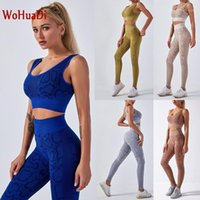 Wohuadi 2020 New Snake Impressão Womens Yoga Sets Ginásio Fitness Set Seamless Sports Sutiã Alto cintura Leggings Workout Sets Sportswear1