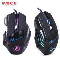 MICE IMICE X7 유선 게임 마우스 전문 DPI 조정 가능한 7 버튼 PC 노트북을위한 USB 광 게 게 컴퓨터