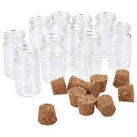 Горячая распродажа небольшая мини-проброванная бутылка флаконы прозрачные стекла, желающие дрейфа контейнер для дрейфа с пробкой .5 мл 1мл 2 мл 3мл 4 мл 5 мл 6 мл 7 мл 10 мл 15 мл.
