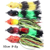 5 Color Mixed 10cm 9.5g 3D Eyes Frog Hard Baits & Lures Fishing Hooks 6# Hook Pesca Fishing Tackle BL_282