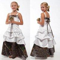 웨딩 스파게티 위장 공주 주니어 신부 들러리 가운에 대한 사랑스러운 카모 꽃 소녀 드레스 새로운 아이들 생일 가운 ba1784