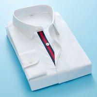Маленькая пчела вышивка повседневная рубашка мужская бренд одежда 2010 новый длинный рукав тонкий подходит с твердой мужской рубашкой высшего качества белый и черный C1222