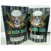 La Kush Cake Ziplock حقيبة سوداء الرمز البريدي قفل أكياس مقاومة 420 أكياس التعبئة والتغليف مايلر مع نافذة واضحة