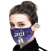 12 스타일 인쇄 된 면화 마스크 2021 년 새해 핫 판매 겨울 열 먼지 마스크 세탁 가능한 성인 천 마스크 CCD3056