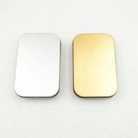 Boîte d'étain vide Boîte de rangement en métal en argent en métal argenté pour l'argent Coori Candy Keys U Disk Casque Candy Box