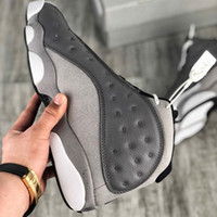 Kaliteli Jumpman 13 Ayakkabı Atmosfer Gri Siyah Beyaz Adam Basketbol Sneaker Chaussures de Spor Kutusu ile