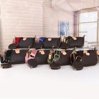 Verkauf 3 Stück Set Designer Taschen Frauen Crossbody Bag Multi Pochette Zubehör Luxus Handtaschen Geldbörsen Lady Tote Münze Geldbörse Drei Artikel
