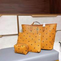 Tasarımcı tasarlanmış yüksek kaliteli üç parçalı alışveriş çantası omuz çantası, orta torba ve küçük çanta tek başına kullanılabilir.