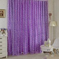 Bedroom Chic Room Bubble Pattern Voile Window Curtains Sheer...