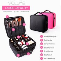 Qehiie Nova Moda Mulheres Sacos Cosméticos Maquiagem de Viagem Profissional Make Up Box Cosmetics bolsa sacos de beleza capa para maquiador lj201008