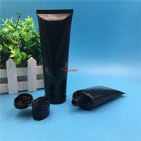 Ücretsiz Kargo 60 ml 100 Boş Siyah Plastik Tüp Çevirme Kap Şişeler Erkek Adam Kozmetik Kapları Ambalaj 50 PCShigh QualTity