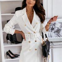 3XL Automne et hiver Courroie à manches longues Couleur Couleur Veste Femme Veste Blazer Office Lady Colorful Blazer Veste pour femmes Blazers