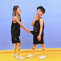 2-7 anni Boy and Girl Summer Suit bambino basket calcio calcio senza maniche gilet pantaloncini a due pezzi performance vestito traspirante traspirazione
