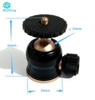 Tripé cabeças BGNING 25MM Mini Ball Head 360 graus Swivel Ballheads Video Stand para DSLR SLR Panoramic Camera Acessórios Suporte 3KG1