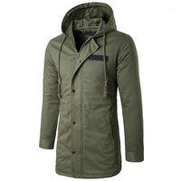 Мужские траншеи Пальто левого Рим Мужская ветровка колпачки Высококачественное Свободное пальто Мода Человек Чистый Цвет Кашемир Большой Размер Куртка S-4XL1