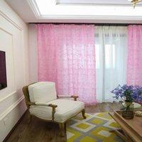 Занавес драпов розовые розы Шторы волересовые тюль романтический стиль прозрачные Cortinas для гостиной спальня свадебный декор