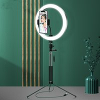 10 بوصة 26 سنتيمتر led الدائري ضوء ماكياج selfie ringlight مع حامل الهاتف دائرة مصباح ل youtube تيك توك فيديو فاخر