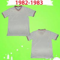 Chelsea FC Tehlike Robson Bumstead 1981 1982 1983 Retro futbol forması uzakta beyaz futbol gömlek Vintage Maillot 81 82 83 Camiseta antik Koleksiyonu soccer jersey football shirt
