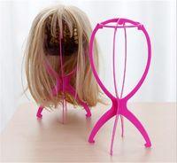 18x36cm 플라스틱 가발 스탠드 모자 디스플레이 가발 머리 홀더 마네킹 헤드 스탠드 휴대용 접는 가발 스탠드 주최자