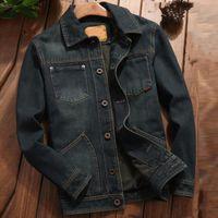 Stil Vintage Erkek Denim Ceket ve Coats Artı boyutu 4XL Avrupa Tasarımcı Erkek Jean Coat Casual Kıyafet Streetwear A702
