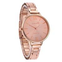 100pcsNew Style Ginebra Reloj de metal reloj de arena mujer vestido de moda reloj de moda reloj de muñeca de cuarzo femme Montres