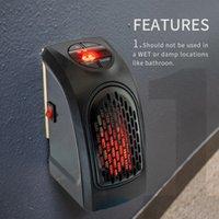 Calentador eléctrico doméstico 400W OUTLET WALL-OUTLET Portátil Handy Handy Quick Heat Desktop Home Office Calentador Temporizador Estufa digital Calentador Máquina calentadora