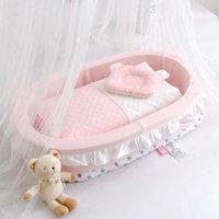 Baby Nest Stoff Baumwolle Neugeborenen Bett Baby Krippe Tragbare Bassinet Für Babybett Reisebett B1203