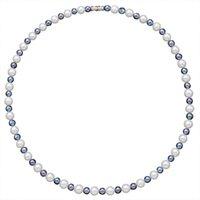 Ursprünglicher authentischer Stern mit natürlicher Perlenkette Schwarz-Weiß-Perlen Retro Männer und Frauen Hip Hop Clavicle Chain Flut