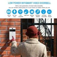 WiFi Doorbell Smart IP Vidéo Porte Vidéo Intercom Téléphone Porte téléphone Caméra pour Apartments IR Alarm Security Caméra de sécurité sans fil