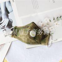Disponibles Máscaras de la cara de algodón con válvula de respiración FSHION CUBIERTA DE LA BOCA DE CAMAULA DE PULSO A prueba de polvo Máscara de cara lavable Reutilizable 15 P2