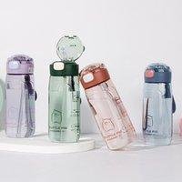 Высококачественный портативный мультфильм милый 500 мл пластиковый спорт Спортивная бутылка для чая чая