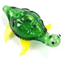 Стекло курение трубы красочные мультфильм черепаха курить рука ложка курить ручной трубку DAB нефтяной выгрешкой Pyrex Water Bong Бесплатная доставка