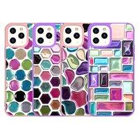 Custodia in cristallo Candy Colorful Stone Hybrid Armor Custodia per iPhone 12 Mini 11 Pro Max XR XS X 7 8 PLUS SE2