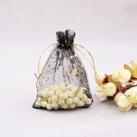Organza coulisse per favore sacchetto regalo sacchetto di caramelle stelle luna placcato oro garza cerata gioielli sacchetti di caramelle borse sottili trasparenti di alta qualità 0 23ko4 G2
