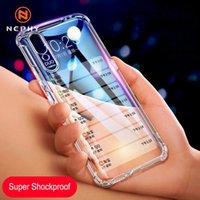 Huawei P20 P30 Pro Brone 10 Lite Mate 20 X Nova 5 P 스마트 2019 소프트 실리콘 휴대 전화 럭셔리 커버를위한 슈퍼 Shockproof 케이스