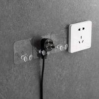 السنانير القضبان 3 قطع شفافة التوصيل المقبس حامل جدار لاصق ماكينة حلاقة الهاتف شماعات مفتاح هوك الحد الأدنى 1